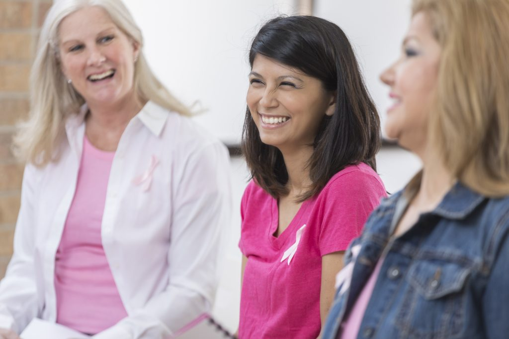 Breast cancer survivors participate in support group